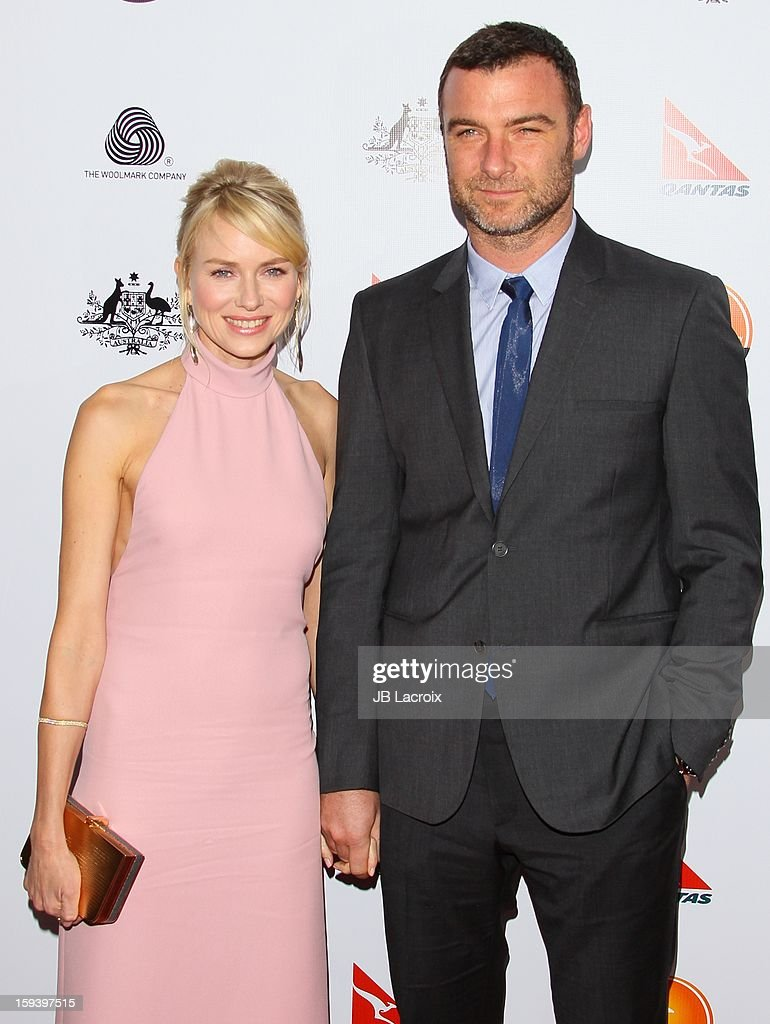 Naomi Watts and Liev Schreiber attend the 2013 G'Day USA Black Tie Gala at JW Marriott Los Angeles at L.A. LIVE on January 12, 2013 in Los Angeles, California.