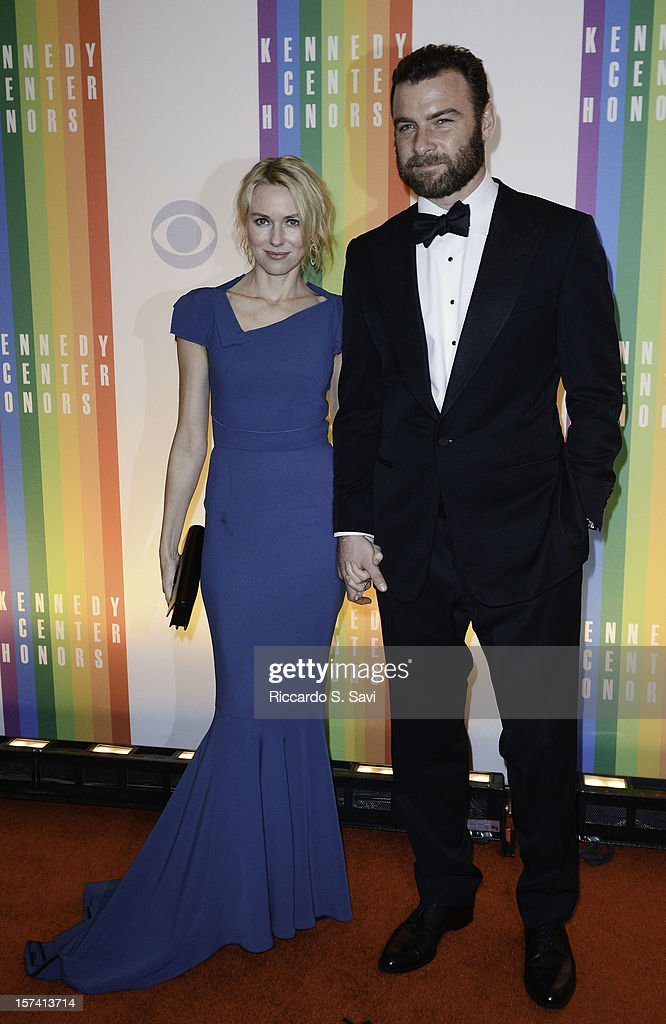 Naomi Watts and Liev Schreiber attend the 35th Kennedy Center Honors at the Kennedy Center Hall of States on December 2, 2012 in Washington, DC.