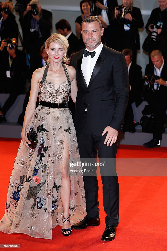 Naomi Watts and Liev Schreiber attend the premiere of 'The Bleeder' during the 73rd Venice Film Festival at Sala Grande on September 2, 2016 in Venice, Italy.