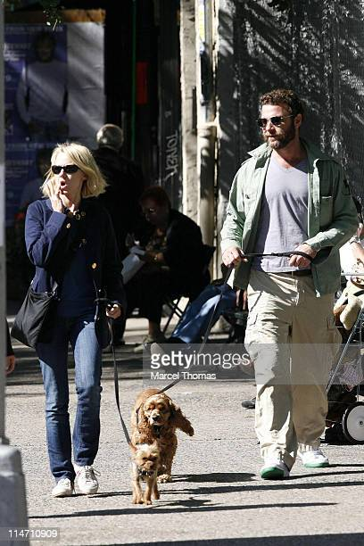 Naomi Watts and Liev Schreiber during Liev Schreiber and Naomi Watts Sighting in SoHo October 7 2006 at SoHo in New York City New York United States