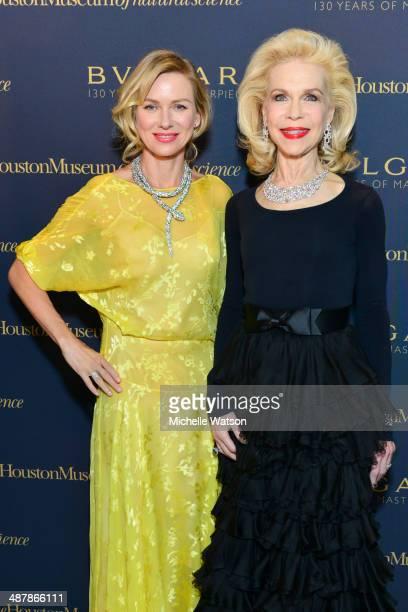 Naomi Watts and Lynn Wyatt both wearing Bulgari at Bulgari Celebrating 130 Years of Masterpieces Dinner Exhibition at the Houston Museum of Natural...
