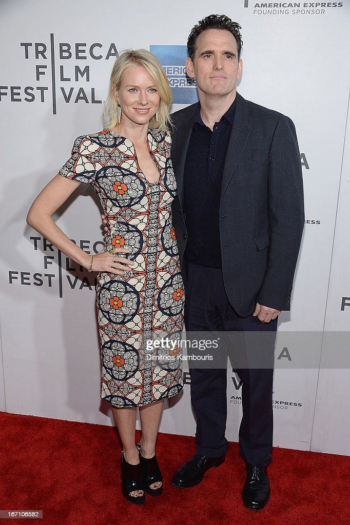 <a gi-track='captionPersonalityLinkClicked' href=/galleries/search?phrase=Naomi+Watts&family=editorial&specificpeople=171723 ng-click='$event.stopPropagation()'>Naomi Watts</a> and Matt Dillion attend the screening of 'Sunlight Jr.' during the 2013 Tribeca Film Festival at BMCC Tribeca PAC on April 20, 2013 in New York City.