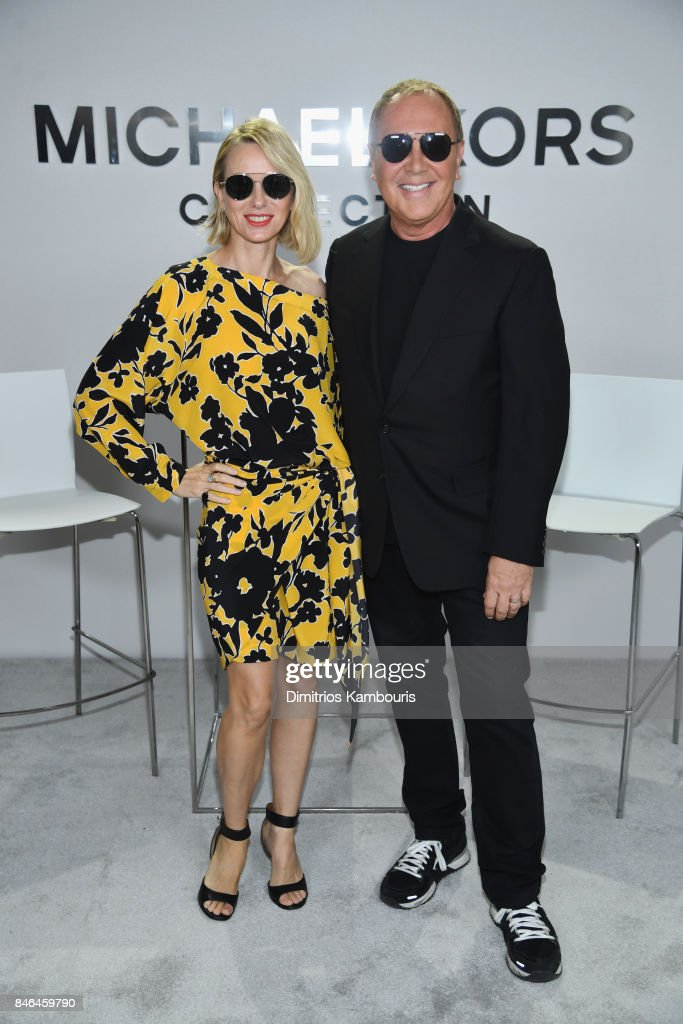 Naomi Watts and Michael Kors pose backstage at Michael Kors Collection Spring 2018 Runway Show at Spring Studios on September 13, 2017 in New York City.