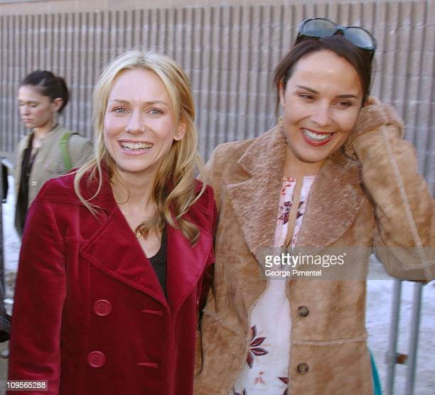 Naomi Watts and Rebecca Rigg during 2005 Sundance Film Festival 'Ellie Parker' Premiere at Racquet Club in Park City Utah United States