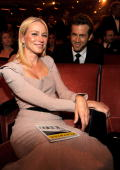 NEW YORK JUNE 13 Naomi Watts and Ryan Reynolds in the audience at the 64th Annual Tony Awards at Radio City Music Hall on June 13 2010 in New York...