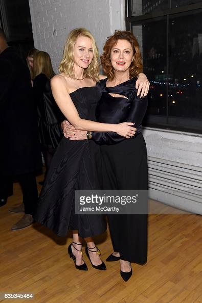Naomi Watts and Susan Sarandon the runway for the Zac Posen collection during New York Fashion Week The Shows on February 14 2017 in New York City