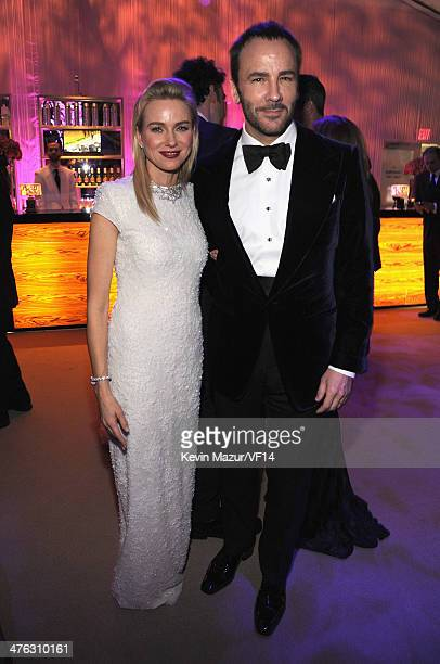 Naomi Watts and Tom Ford attend the 2014 Vanity Fair Oscar Party Hosted By Graydon Carter on March 2 2014 in West Hollywood California