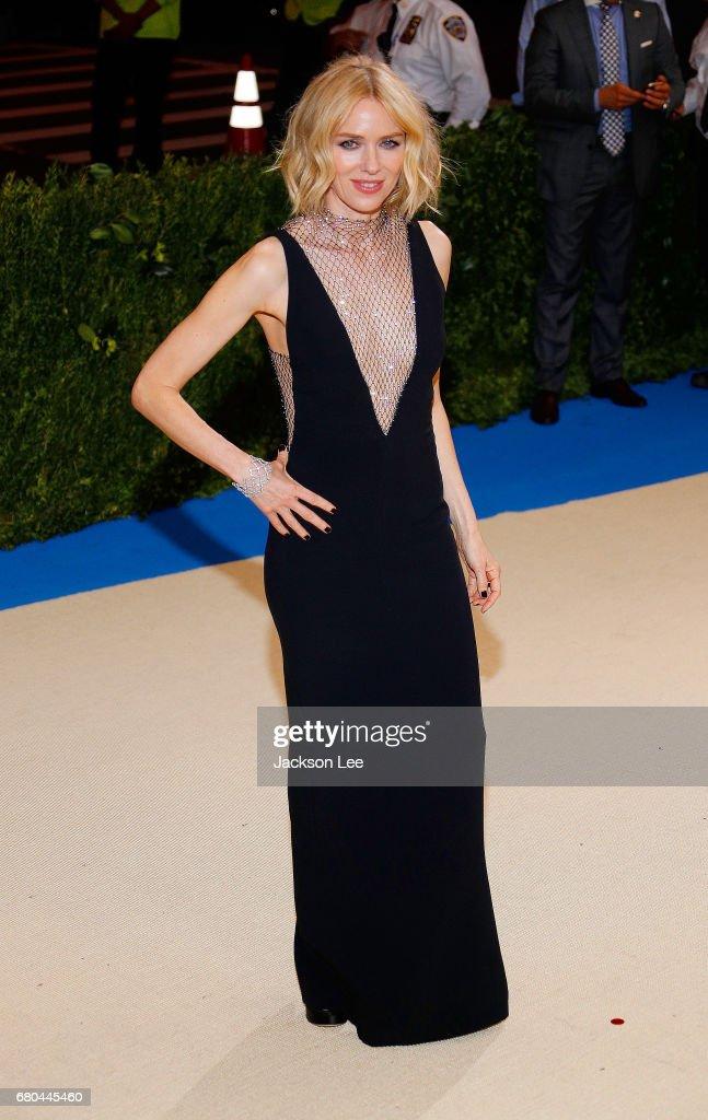 Naomi Watts at 'Rei Kawakubo/Comme des Garçons:Art of the In-Between' Costume Institute Gala at Metropolitan Museum of Art on May 1, 2017 in New York City.