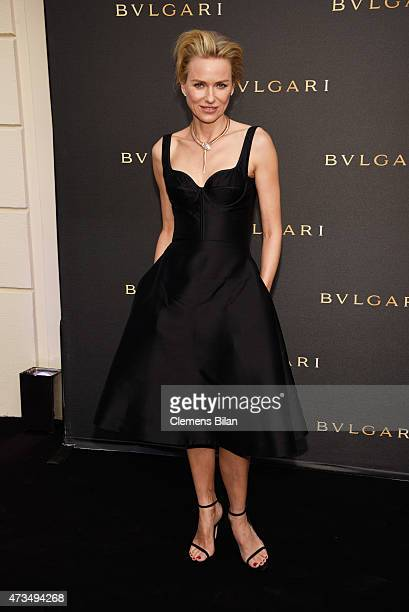 Naomi Watts attends a party to celebrate the opening of the new Bulgari boutique during the 68th annual Cannes Film Festival on May 15 2015 in Cannes...
