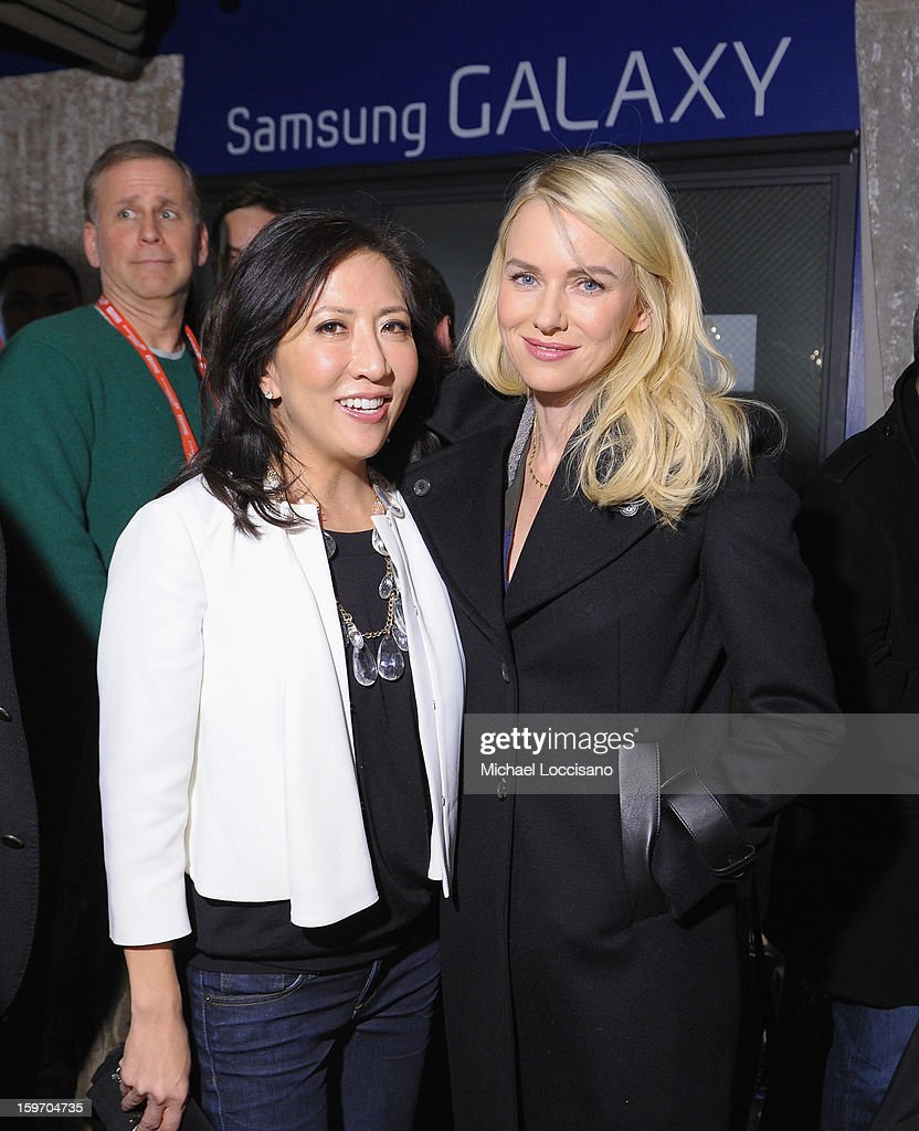 <a gi-track='captionPersonalityLinkClicked' href=/galleries/search?phrase=Naomi+Watts&family=editorial&specificpeople=171723 ng-click='$event.stopPropagation()'>Naomi Watts</a> (Right) attends Night 1 of Samsung at Village At The Lift 2013 on January 18, 2013 in Park City, Utah.