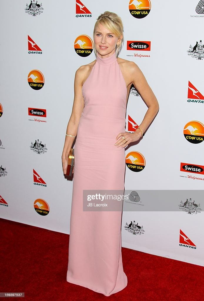 Naomi Watts attends the 2013 G'Day USA Black Tie Gala at JW Marriott Los Angeles at L.A. LIVE on January 12, 2013 in Los Angeles, California.