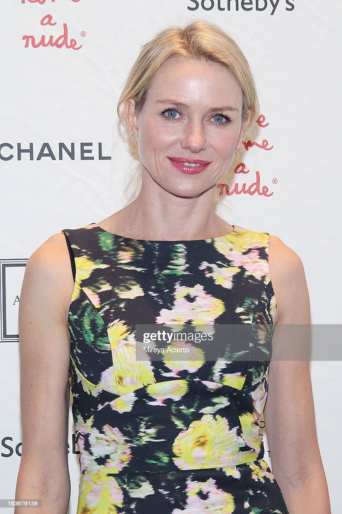 <a gi-track='captionPersonalityLinkClicked' href=/galleries/search?phrase=Naomi+Watts&family=editorial&specificpeople=171723 ng-click='$event.stopPropagation()'>Naomi Watts</a> attends the 2013 'Take Home A Nude' Benefit Art Auction And Party at Sotheby's on October 8, 2013 in New York City.