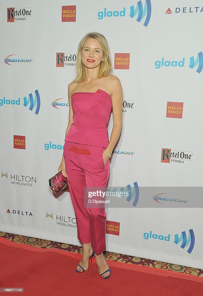 <a gi-track='captionPersonalityLinkClicked' href=/galleries/search?phrase=Naomi+Watts&family=editorial&specificpeople=171723 ng-click='$event.stopPropagation()'>Naomi Watts</a> attends the 25th Annual GLAAD Media Awards In New York on May 3, 2014 in New York City.