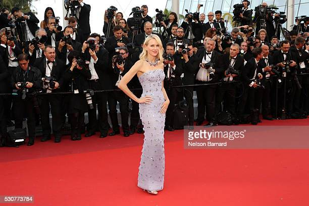 Naomi Watts attends the 'Cafe Society' premiere and the Opening Night Gala during the 69th annual Cannes Film Festival at the Palais des Festivals on...