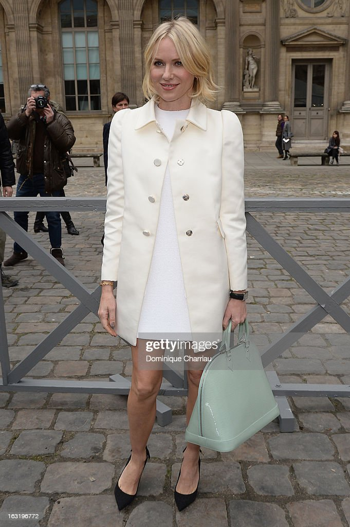 <a gi-track='captionPersonalityLinkClicked' href=/galleries/search?phrase=Naomi+Watts&family=editorial&specificpeople=171723 ng-click='$event.stopPropagation()'>Naomi Watts</a> attends the Louis Vuitton Fall/Winter 2013 Ready-to-Wear show as part of Paris Fashion Week on March 6, 2013 in Paris, France.