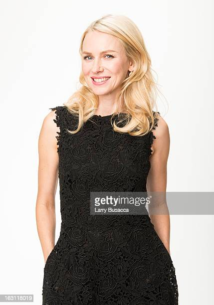 Naomi Watts attends the Peoplecom Portrait Gallery at the 85th Academy Awards Nominees Luncheon at The Beverly Hilton Hotel on February 4 2013 in...