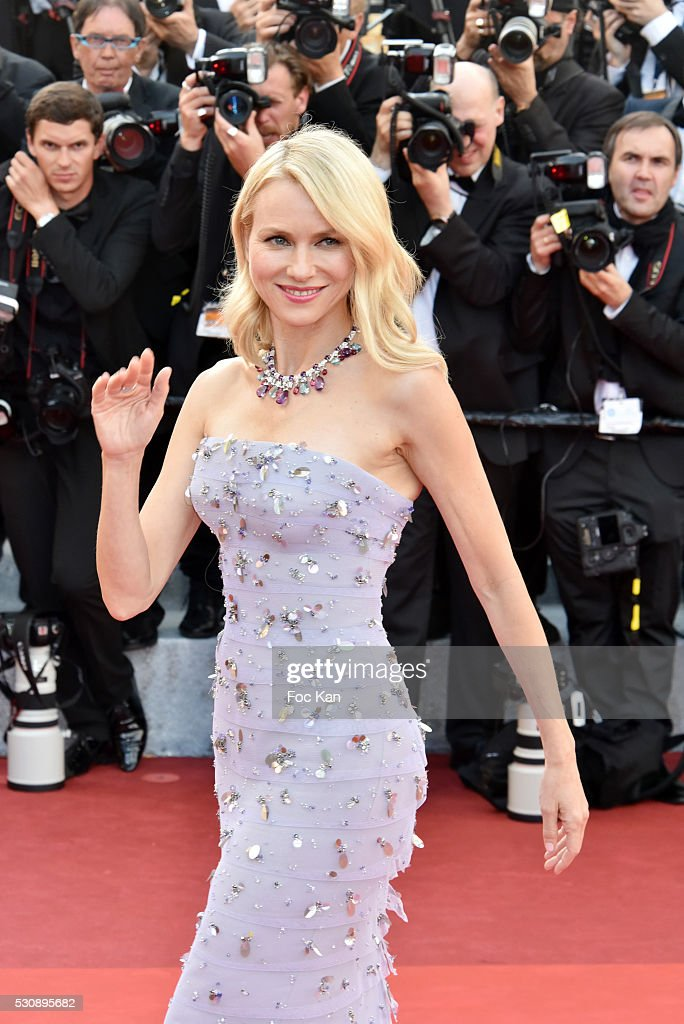 Naomi Watts attends the screening of 'Cafe Society' at the opening gala of the annual 69th Cannes Film Festival at Palais des Festivals on May 11, 2016 in Cannes, France.
