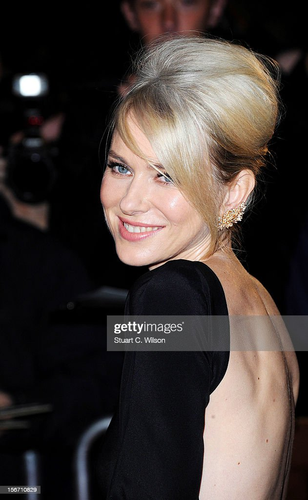 Naomi Watts attends the UK charity premiere of 'The Impossible' at BFI IMAX on November 19, 2012 in London, England.