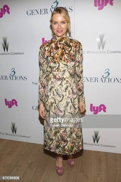 Naomi Watts attends The Weinstein Company and Lyft host a special screening of '3 Generations' on April 30 2017 in New York City