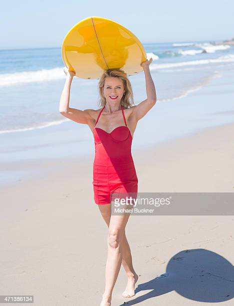 Naomi Watts behind the scenes as she starred in a retro poster shoot to mark 80 years of British Airways flights to Australia on April 27 2015