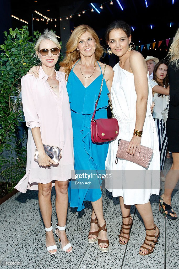 Naomi Watts Connie Britton and Katie Holmes attend Summer Party on The Highline presented by Coach at High Line Park on June 11 2013 in New York City