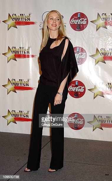 Naomi Watts during 2002 ShoWest Gala Awards Press Room at Paris Hotel in Las Vegas Nevada United States