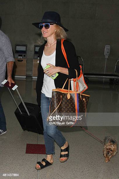 Naomi Watts is seen at LAX on July 20 2015 in Los Angeles California