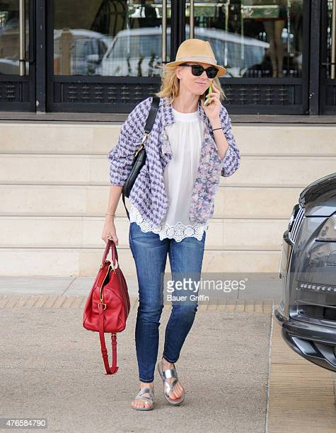 Naomi Watts is seen departing Barneys New York in Beverly Hills on June 10 2015 in Los Angeles California