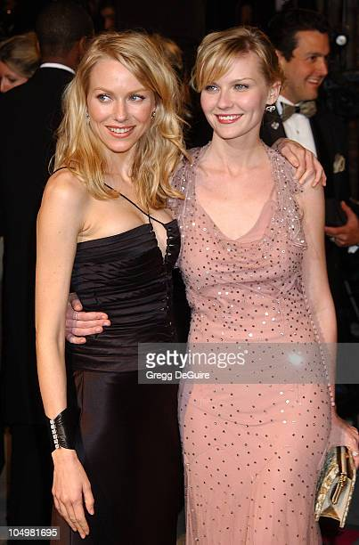 Naomi Watts Kirsten Dunst during 2002 Vanity Fair Oscar Party Hosted by Graydon Carter Arrivals at Morton's Restaurant in Beverly Hills California...