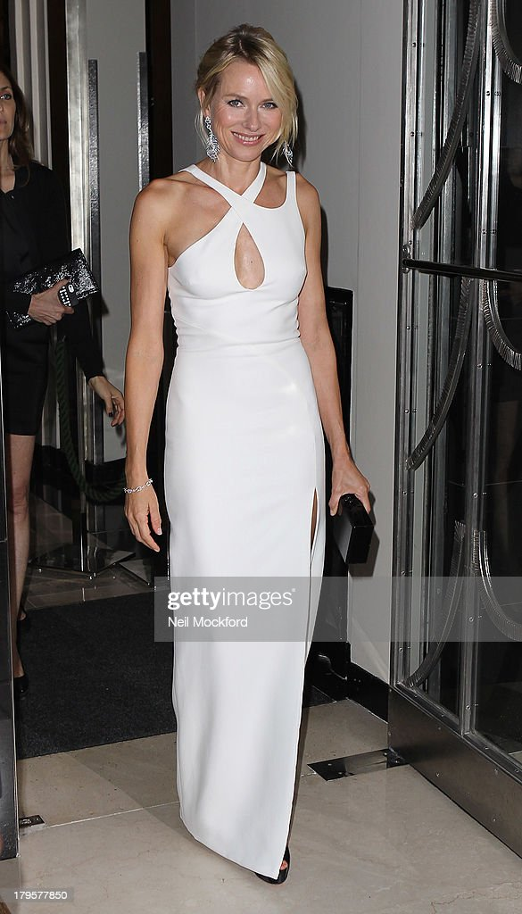 <a gi-track='captionPersonalityLinkClicked' href=/galleries/search?phrase=Naomi+Watts&family=editorial&specificpeople=171723 ng-click='$event.stopPropagation()'>Naomi Watts</a> leaves Claridge's hotel in Mayfair to head to the world film premiere of 'Diana' on September 5, 2013 in London, England.