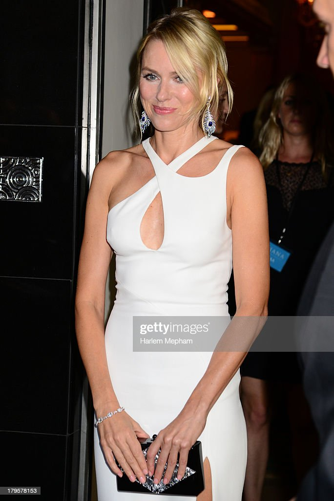 Naomi Watts leaves Claridge's hotel in Mayfair to head to the world film premiere of 'Diana' on September 5, 2013 in London, England.