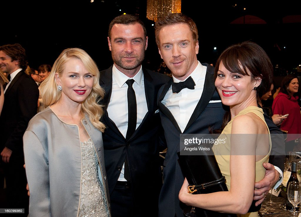 L-R) <a gi-track='captionPersonalityLinkClicked' href=/galleries/search?phrase=Naomi+Watts&family=editorial&specificpeople=171723 ng-click='$event.stopPropagation()'>Naomi Watts</a>, <a gi-track='captionPersonalityLinkClicked' href=/galleries/search?phrase=Liev+Schreiber&family=editorial&specificpeople=203259 ng-click='$event.stopPropagation()'>Liev Schreiber</a>, <a gi-track='captionPersonalityLinkClicked' href=/galleries/search?phrase=Damian+Lewis&family=editorial&specificpeople=206939 ng-click='$event.stopPropagation()'>Damian Lewis</a> and <a gi-track='captionPersonalityLinkClicked' href=/galleries/search?phrase=Helen+McCrory&family=editorial&specificpeople=214616 ng-click='$event.stopPropagation()'>Helen McCrory</a> attend the 19th Annual Screen Actors Guild Awards at The Shrine Auditorium on January 27, 2013 in Los Angeles, California.