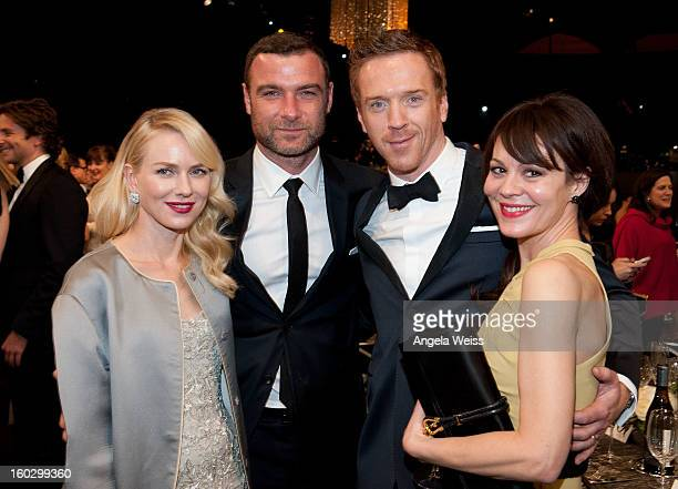 R Naomi Watts Liev Schreiber Damian Lewis and Helen McCrory attend the 19th Annual Screen Actors Guild Awards at The Shrine Auditorium on January 27...