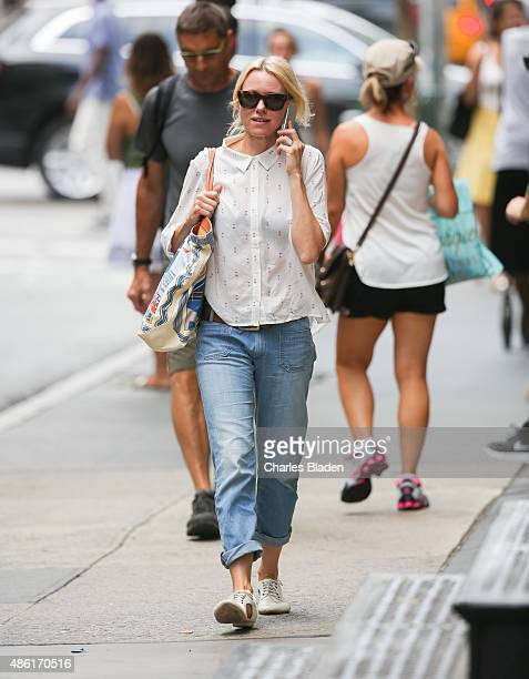 Naomi Watts seen walking through Soho on September 1 2015 in New York City