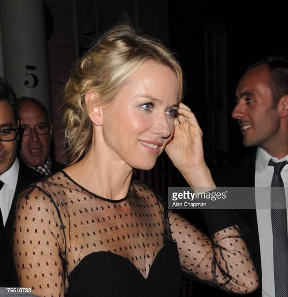 Naomi Watts sighting at the 'Diana' after party on September 5 2013 in London England