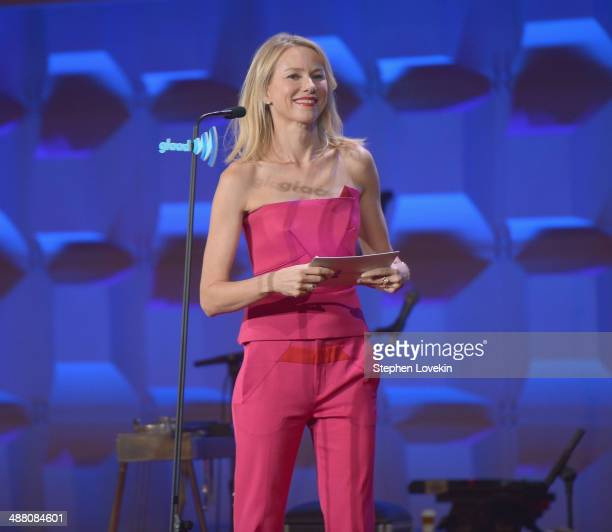 Naomi Watts speaks at the 25th Annual GLAAD Media Awards on May 3 2014 in New York City