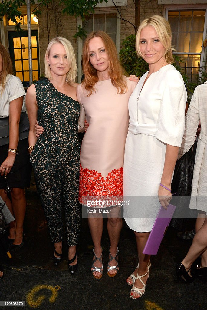 <a gi-track='captionPersonalityLinkClicked' href=/galleries/search?phrase=Naomi+Watts&family=editorial&specificpeople=171723 ng-click='$event.stopPropagation()'>Naomi Watts</a>, Stella McCartney and <a gi-track='captionPersonalityLinkClicked' href=/galleries/search?phrase=Cameron+Diaz&family=editorial&specificpeople=201892 ng-click='$event.stopPropagation()'>Cameron Diaz</a> attend the Stella McCartney Spring 2014 Collection Presentation at West 10th Street on June 10, 2013 in New York City.