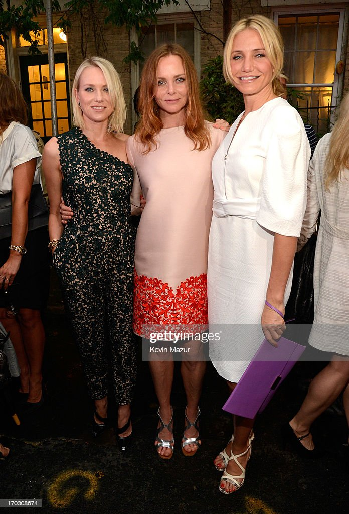 Naomi Watts, Stella McCartney and Cameron Diaz attend the Stella McCartney Spring 2014 Collection Presentation at West 10th Street on June 10, 2013 in New York City.