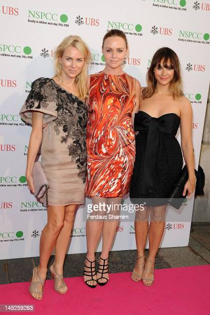 Naomi Watts Stella McCartney and Rasida Jones attend the NSPCC Pop Art Ball at Banqueting House on May 24 2012 in London England