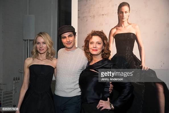Naomi Watts Zac Posen and Susan Sarandon attend Zac Posen Exhibition during New York Fashion Week on February 14 2017 in New York City