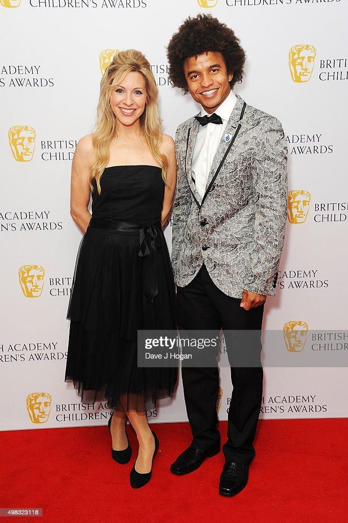 Naomi Wilkinson and Radzi Chinyanganya attend the British Academy Children's Awards at The Roundhouse on November 22 2015 in London England