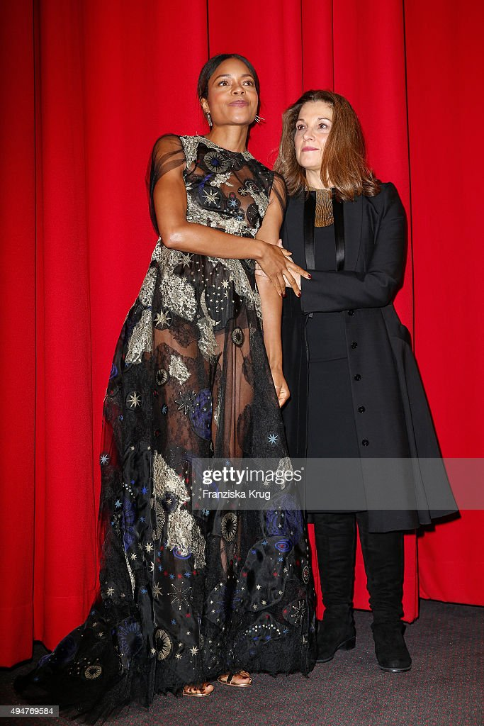Naomie Harris and Barbara Broccoli attend the Spectre' German Premiere on October 28, 2015 in Berlin, Germany.