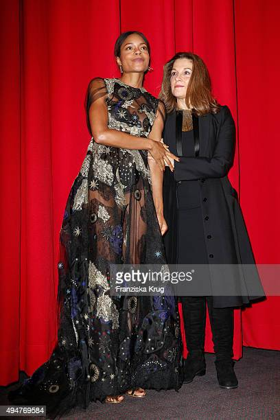 Naomie Harris and Barbara Broccoli attend the Spectre' German Premiere on October 28 2015 in Berlin Germany