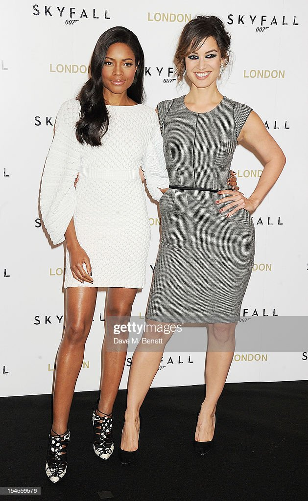Naomie Harris and Berenice Marlohe attend a photocall for the new James Bond film 'Skyfall' at The Dorchester on October 22 2012 in London England