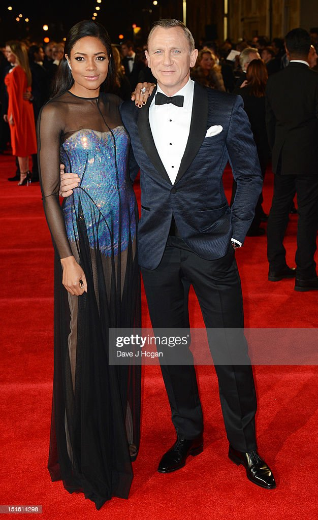 <a gi-track='captionPersonalityLinkClicked' href=/galleries/search?phrase=Naomie+Harris&family=editorial&specificpeople=238918 ng-click='$event.stopPropagation()'>Naomie Harris</a> and Daniel Craig attend the Royal world premiere of 'Skyfall' at The Royal Albert Hall on October 23, 2012 in London, England.
