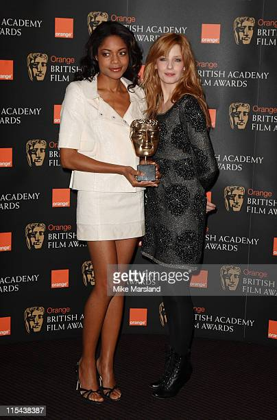 Naomie Harris and Kelly Reilly reveal which films and actors are nominated for the British Academy Film and Television Awards on January 16 2007 in...