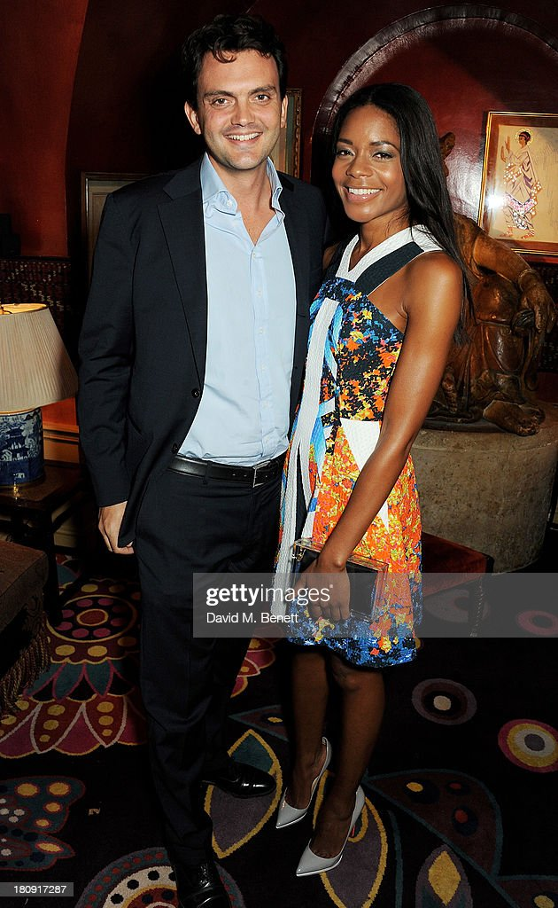 <a gi-track='captionPersonalityLinkClicked' href=/galleries/search?phrase=Naomie+Harris&family=editorial&specificpeople=238918 ng-click='$event.stopPropagation()'>Naomie Harris</a> (R) and Peter Legler attend the Harper's Bazaar London Fashion Week SS14 closing party at Annabel's on September 17, 2013 in London, England.