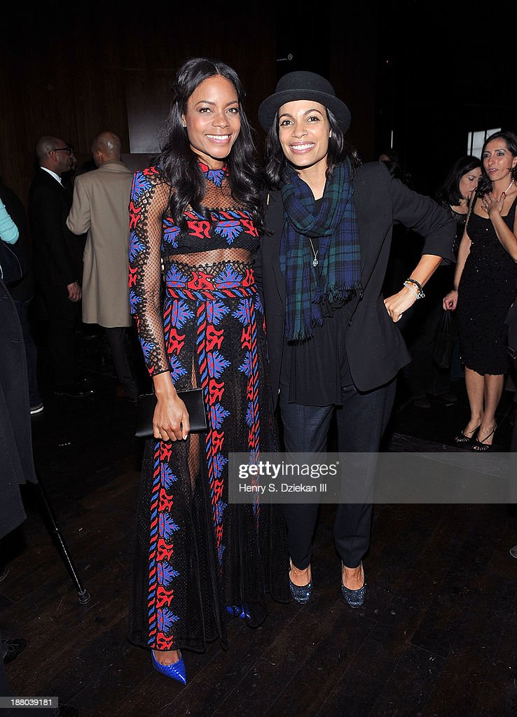 Naomie Harris and Rosario Dawson attend the after party for the New York premiere of 'Mandela Long Walk to Freedom' hosted by The Weinstein Company...