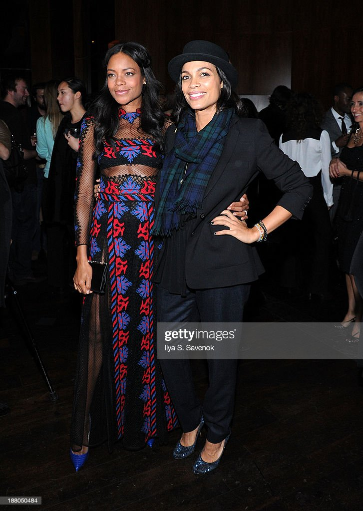 Naomie Harris and Rosario Dawson attend the New York premiere of 'Mandela Long Walk To Freedom' hosted by The Weinstein Company Yucaipa Films and...