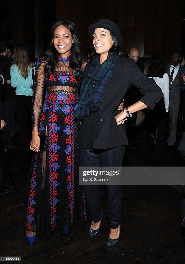 <a gi-track='captionPersonalityLinkClicked' href=/galleries/search?phrase=Naomie+Harris&family=editorial&specificpeople=238918 ng-click='$event.stopPropagation()'>Naomie Harris</a> and <a gi-track='captionPersonalityLinkClicked' href=/galleries/search?phrase=Rosario+Dawson&family=editorial&specificpeople=201472 ng-click='$event.stopPropagation()'>Rosario Dawson</a> attend the New York premiere of 'Mandela: Long Walk To Freedom' hosted by The Weinstein Company, Yucaipa Films and Videovision Entertainment, supported by Mercedes-Benz, South African Airways and DeLeon Tequila at Stone Rose Lounge on November 14, 2013 in New York City.